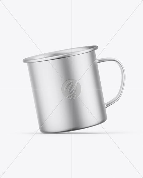 Matte Metallic Cup Mockup
