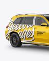 Full-size luxury SUV Mockup - Half Side View