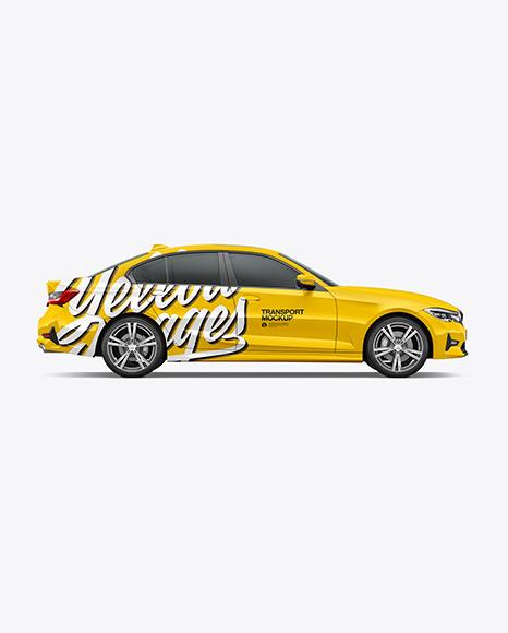 Executive Car Mockup - Side View