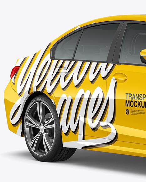Executive Car Mockup - Half Side View