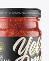 Glass Jar With Chili Sauce Mockup