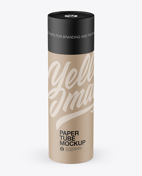 Textured Paper Tube Mockup