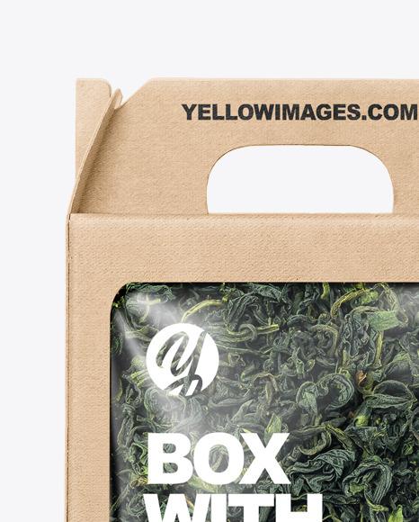 Kraft Box with Green Tea Mockup