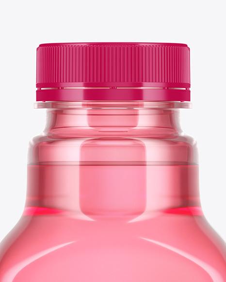 Color Plastic Drink Bottle Mockup