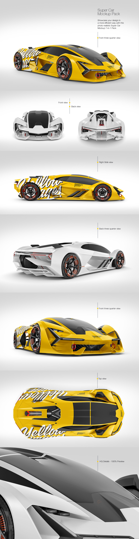 Super Car Mockup Pack