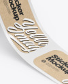 Roll with Kraft Stickers Mockup