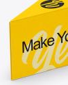 Matte Plastic Triangle Cheese Box Mockup