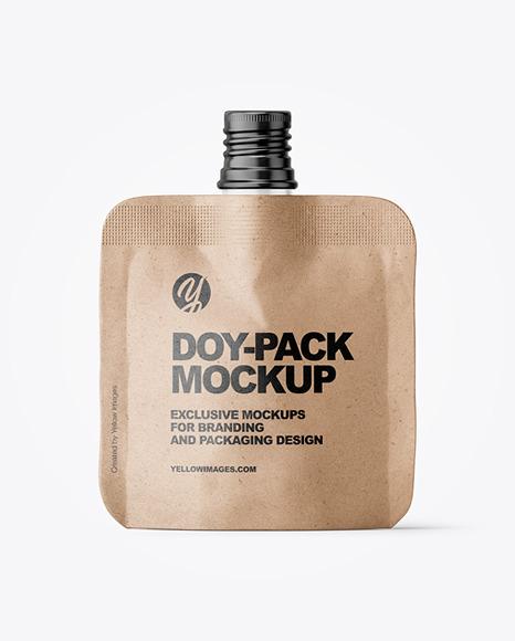 Kraft Paper Doy-Pack Mockup