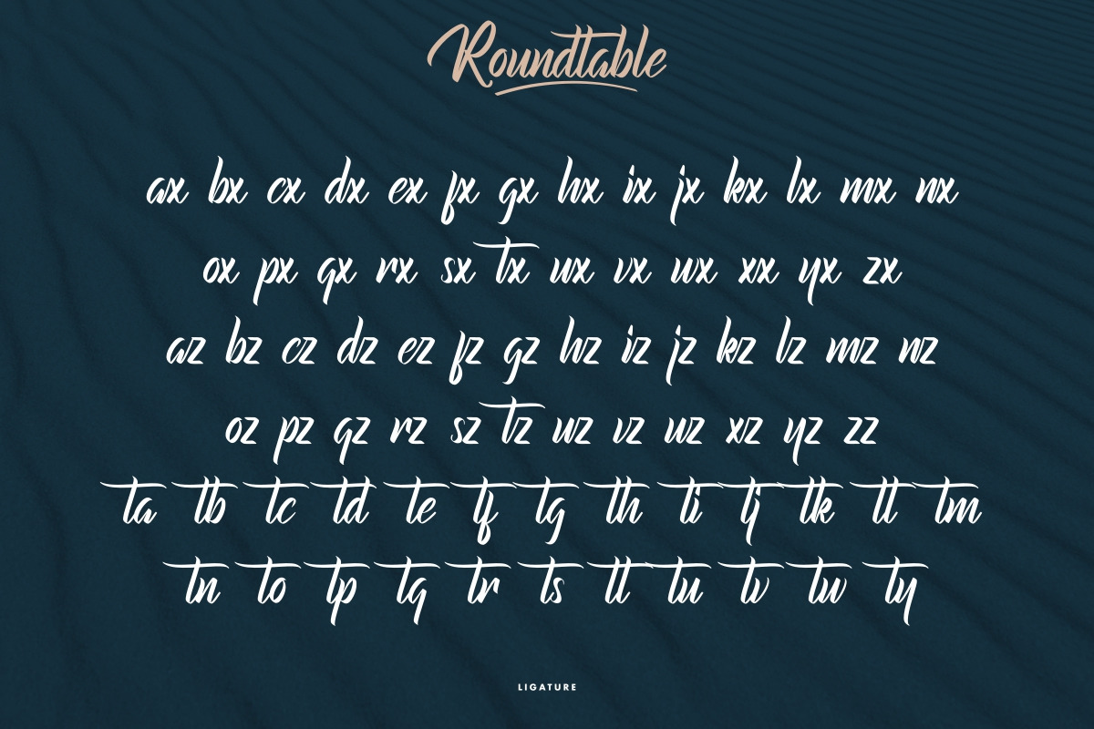 Roundtable Calligraphy Font