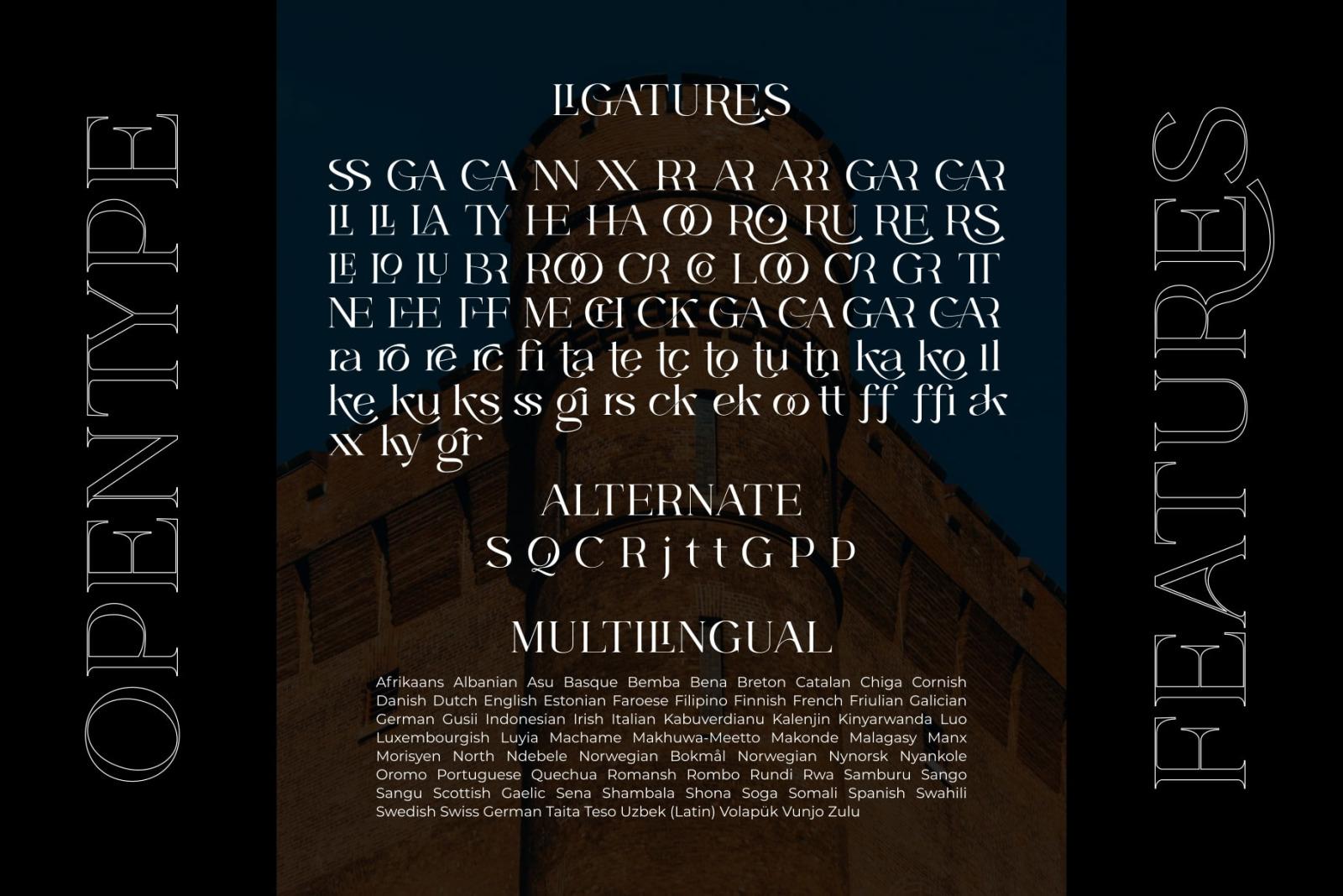 CASTLE ROCKS DUO - Ligature Font