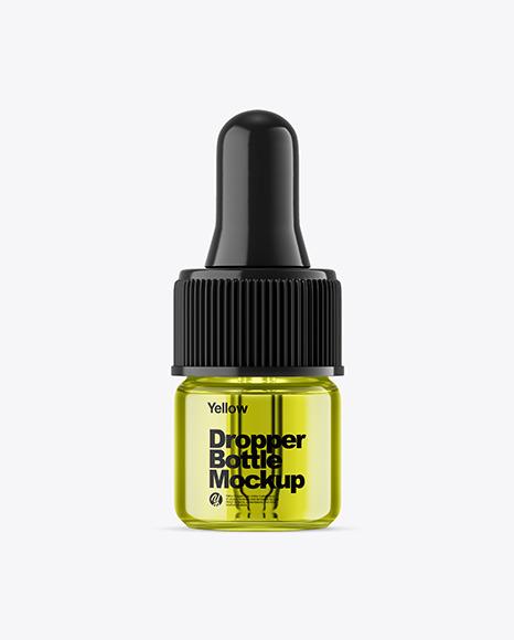 Colored Glass Dropper Bottle Mockup