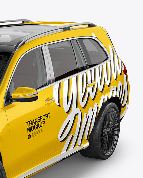 Full-size luxury SUV Mockup - Half Side View (High-Angle Shot)
