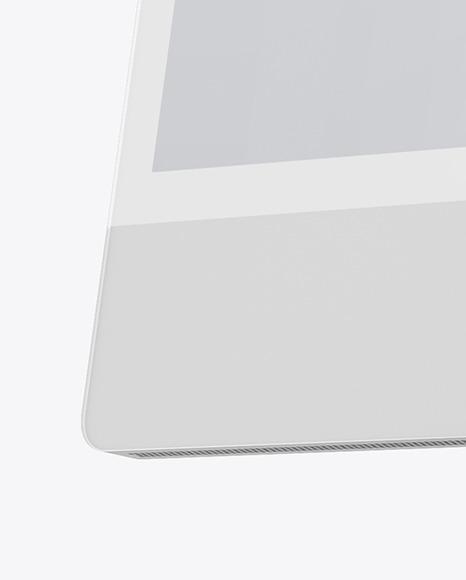 Silver iMac 24 Mockup