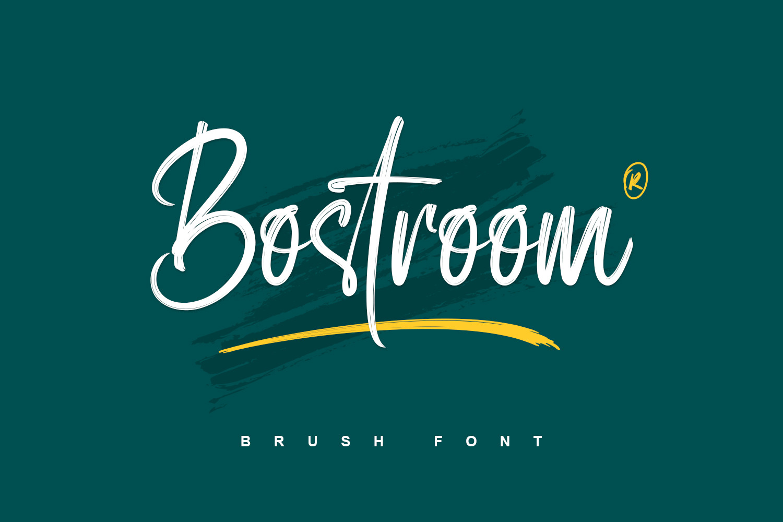 Bostroom - Brush Font