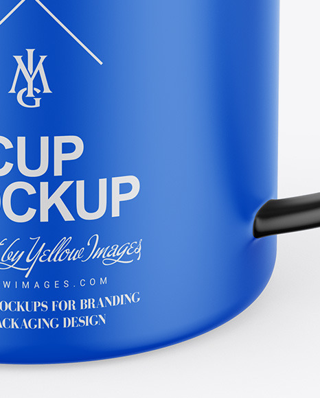 Matte Cup W/ Stirrer Stick Mockup
