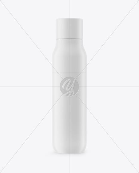 Matte Thermos Bottle Mockup