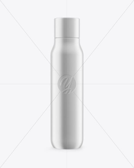 Metallic Thermos Bottle Mockup