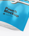 Glossy Metallic Stand-Up Pouch Mockup