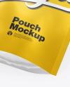 Matte Metallic Stand-Up Pouch Mockup