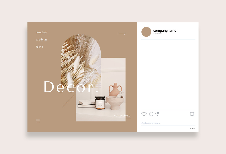 Furniture Boho Minimal Instagram