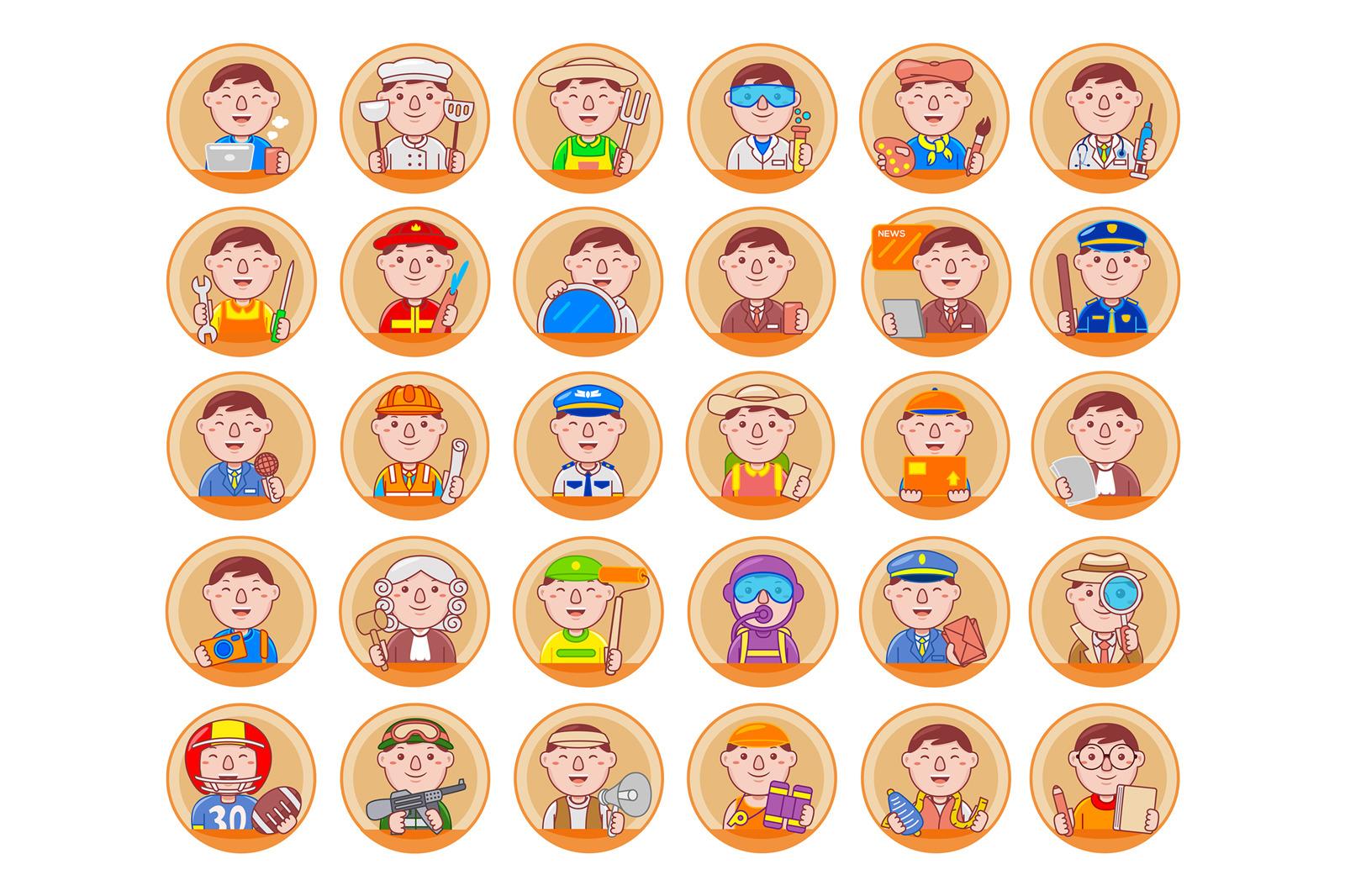 Man Profession Icon Pack