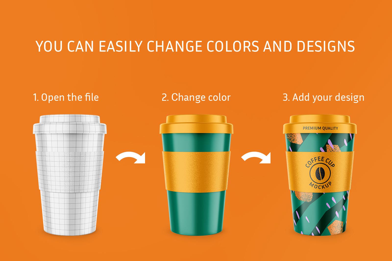 Reusable Coffee Cup Mockup