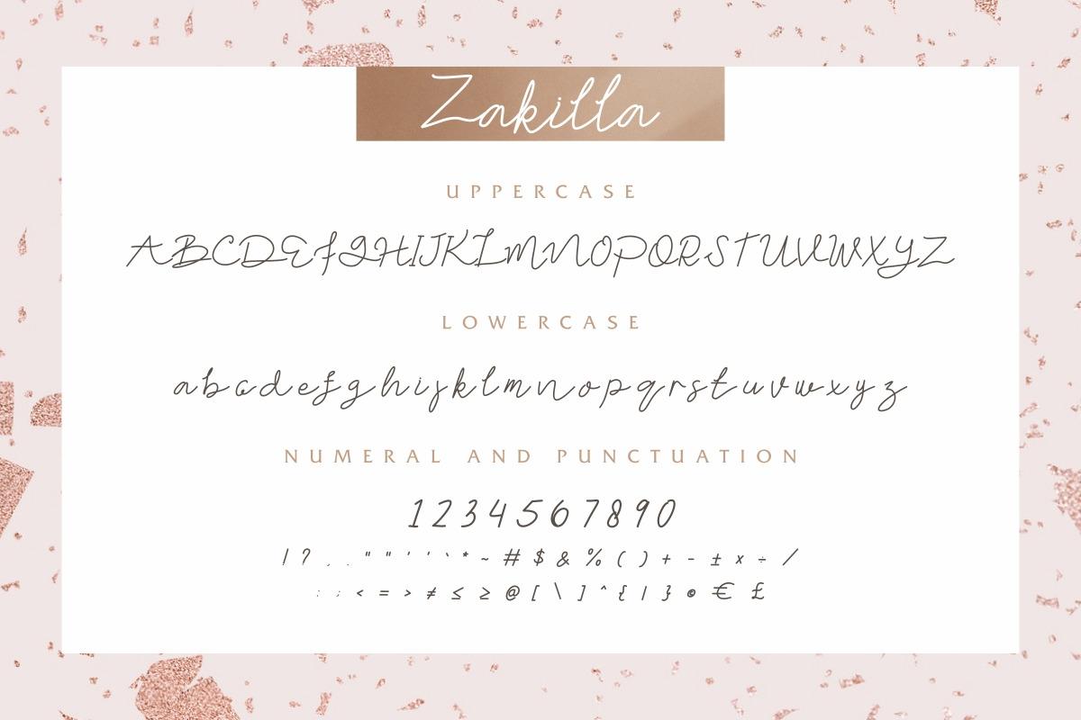 Zakilla Handwritten Script Font