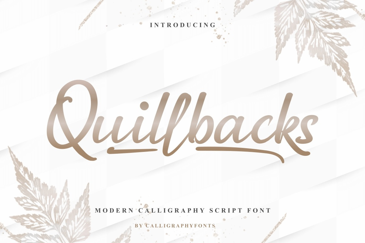 Quillbacks Handwriting Calligraphy Font