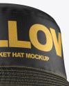 Leather Bucket Hat Mockup