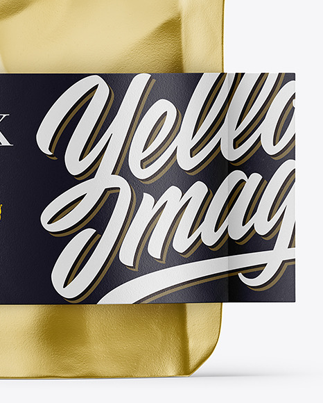 Metallic Doy-Pack Pouch Mockup