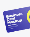 Business Card in a Hand Mockup