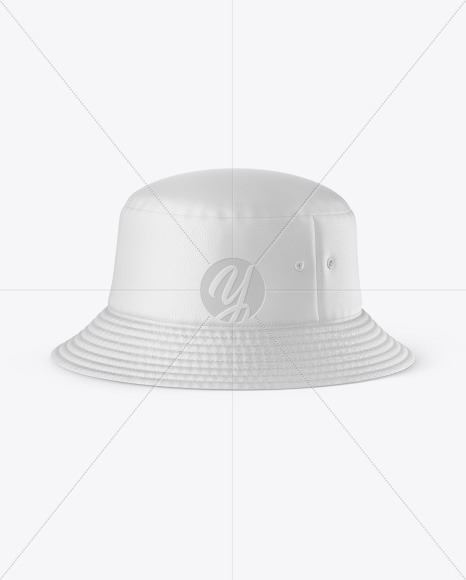 Leather Bucket Hat Mockup
