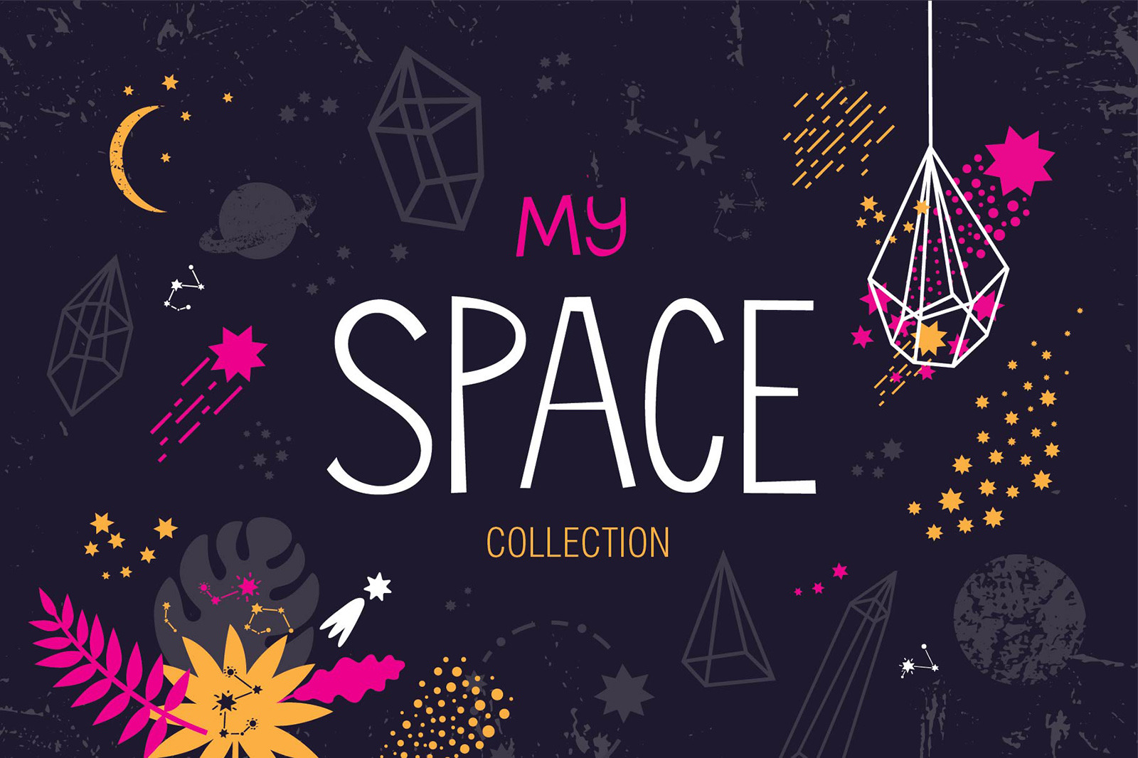 MY SPACE. Graphic set