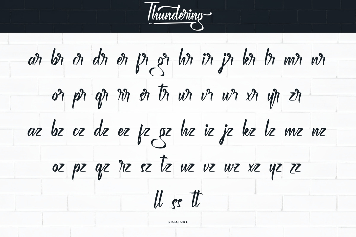 Thundering Calligraphy Font