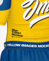Men Compression T-Shirt w/ Shorts & Tights Mockup – Back Half Side View