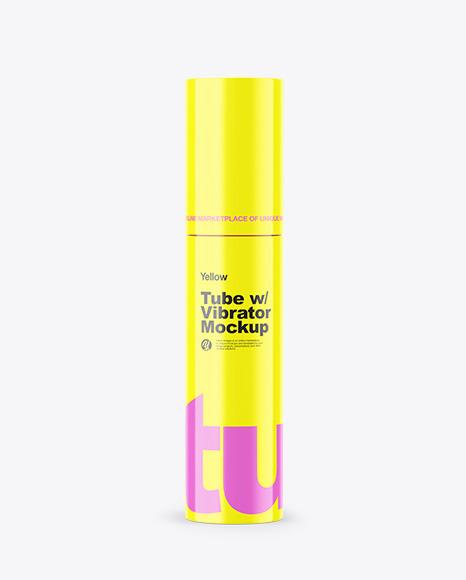 Glossy Tube w/ Vibrator Mockup