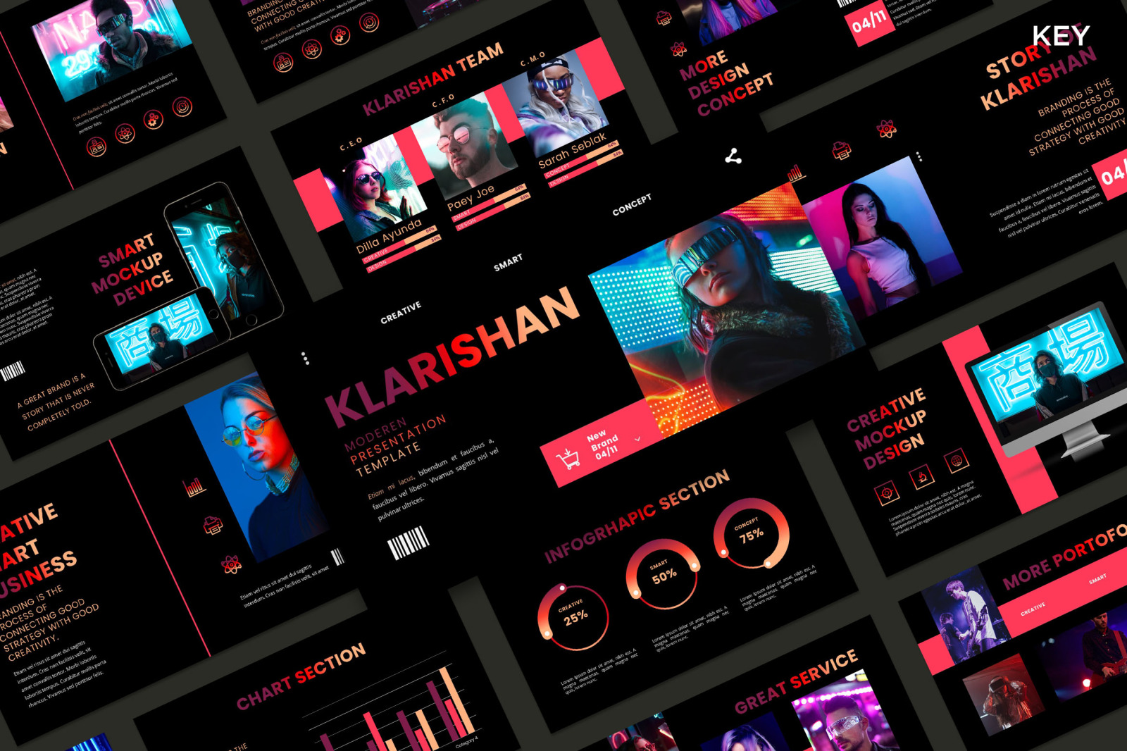 Klarishan - Creative Business PowerPoint Template