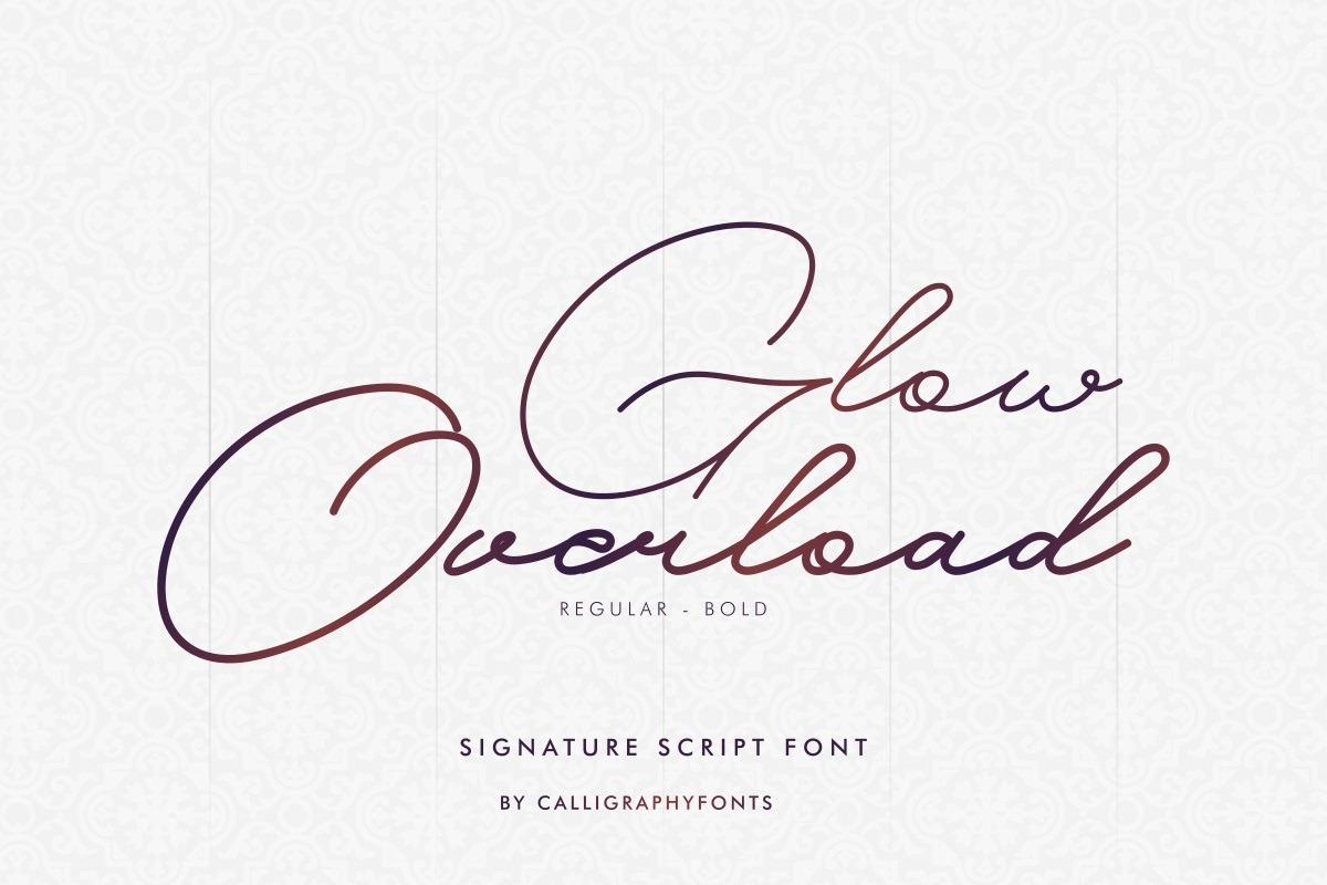Glow Overload Font