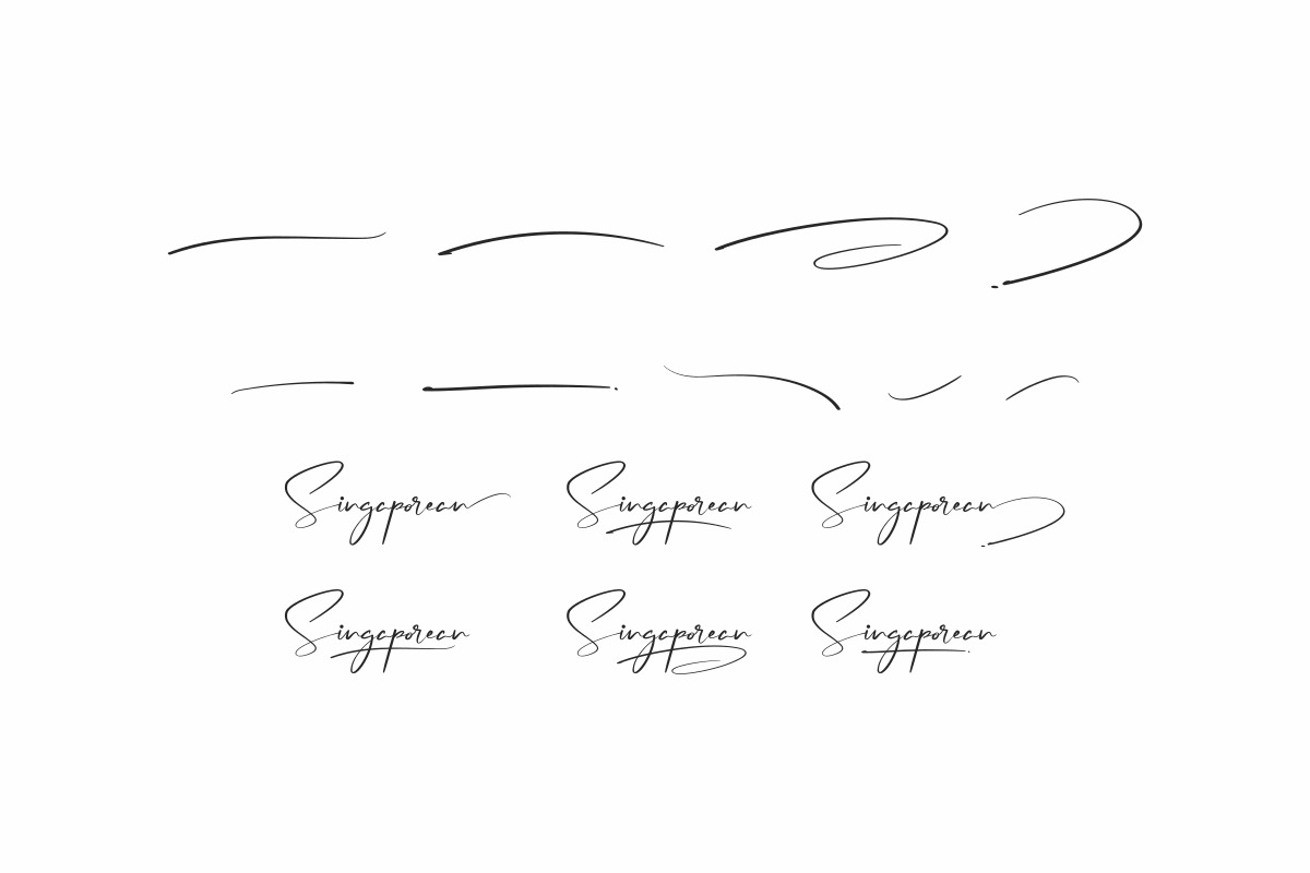 Singaporean Calligraphy Font