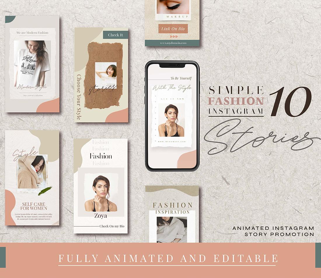 Zoya Fully Animation Instagram Story Template