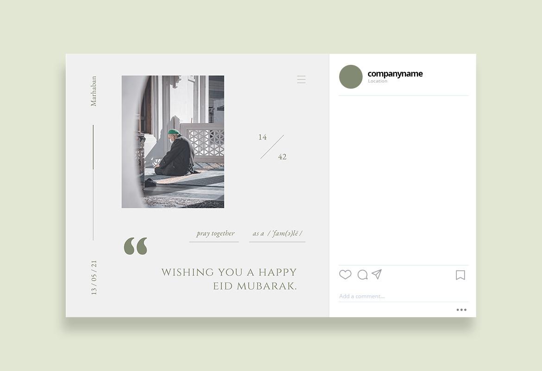 Classy Happy Eid Instagram Template