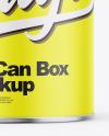Matte Tin Can Box Mockup