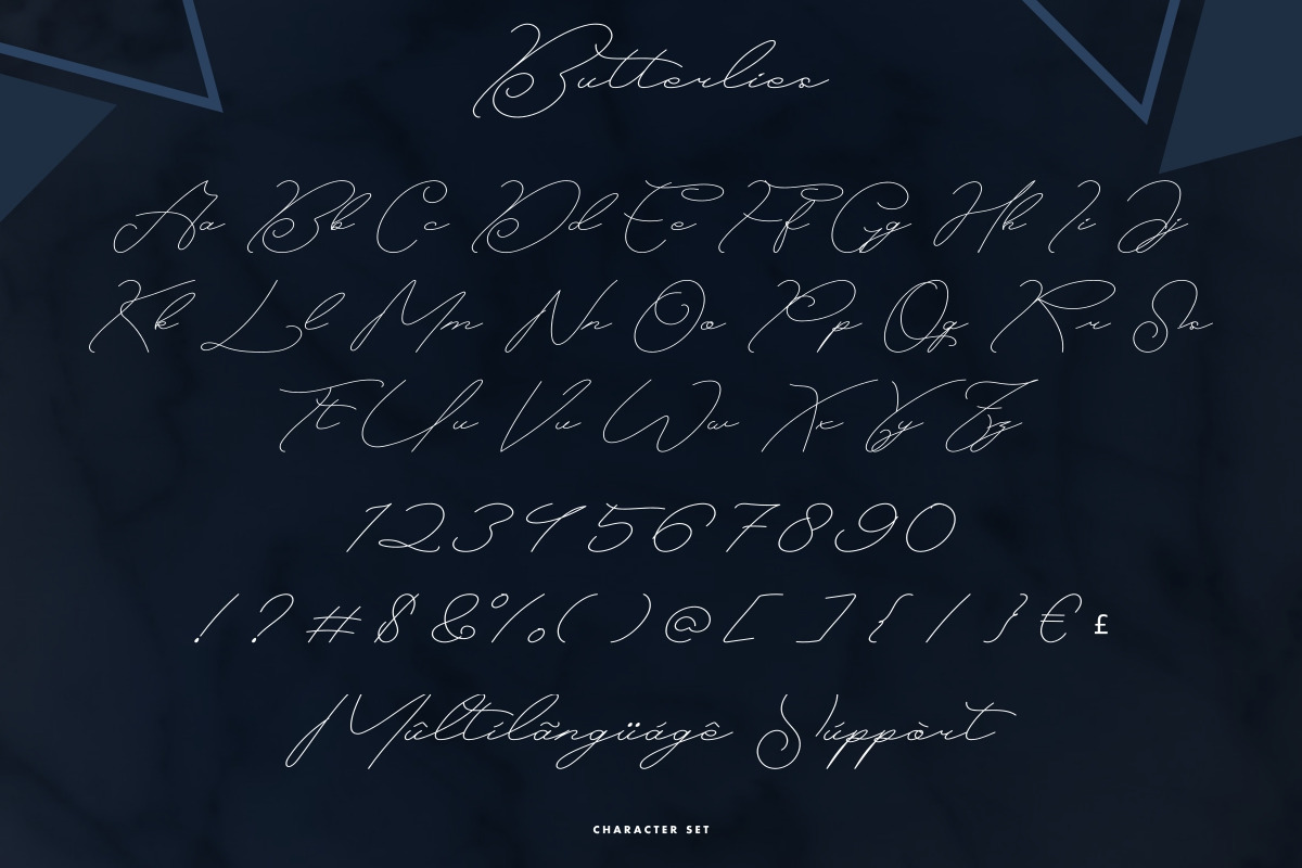 Butterlies Handwriting Script Font