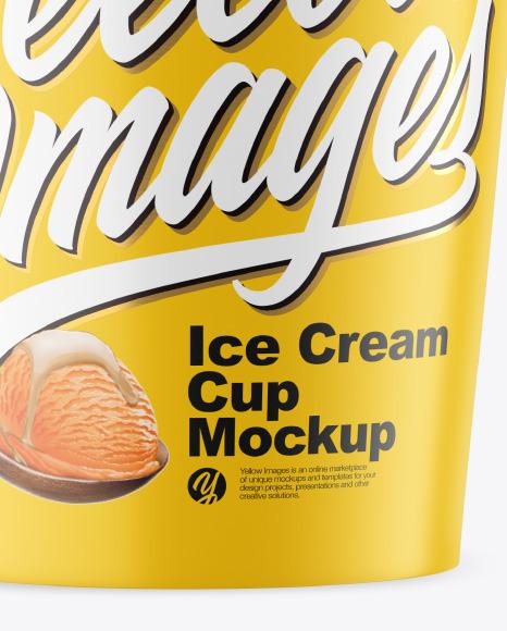 Matte Ice Cream Cup Mockup