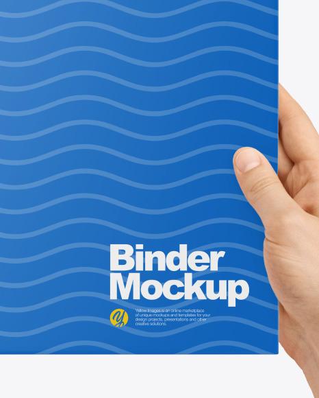 Binder in Hands Mockup