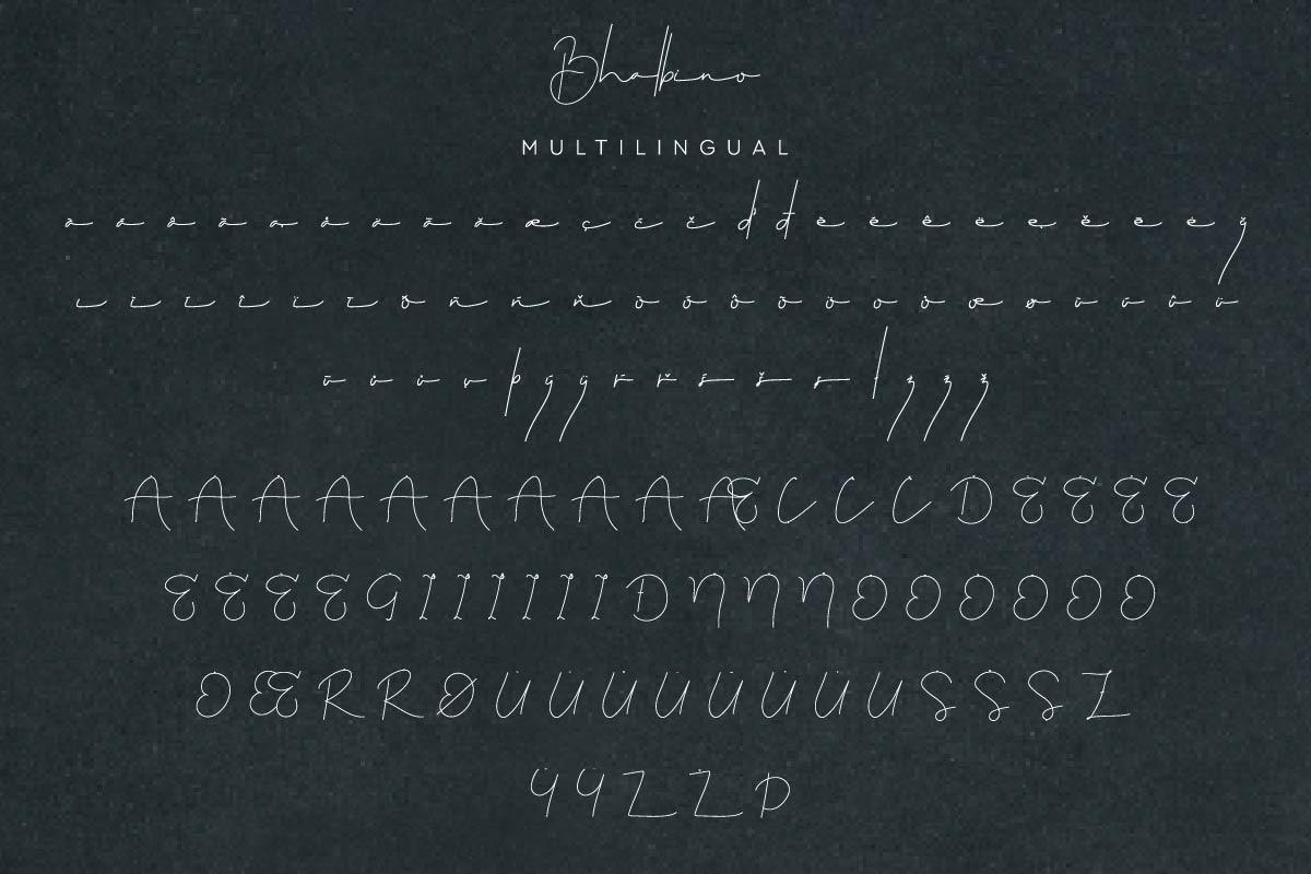 Bhalbino Signature Font