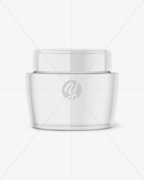 Frosted Glass Cream Jar Mockup