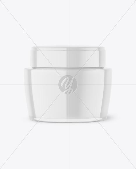 Clear Glass Cream Jar Mockup