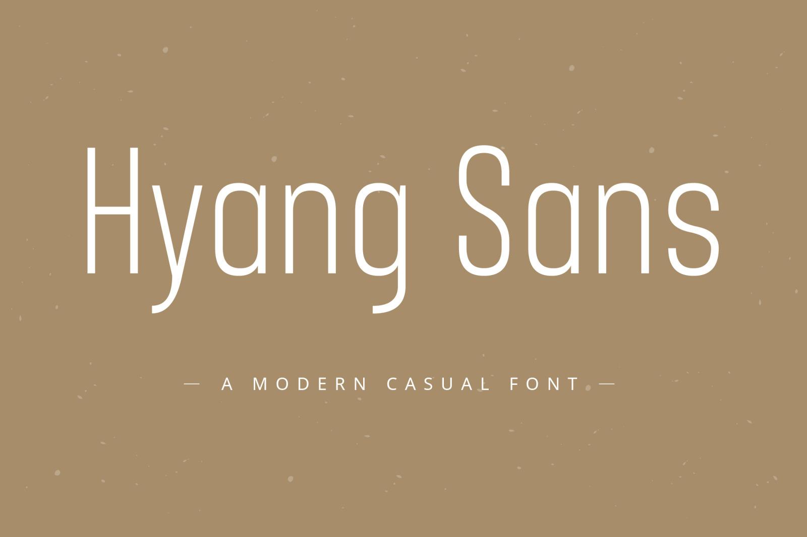 Hyang Modern Sans Serif Font