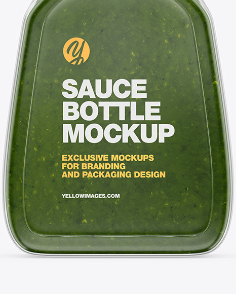 Pesto Sauce Bottle Mockup